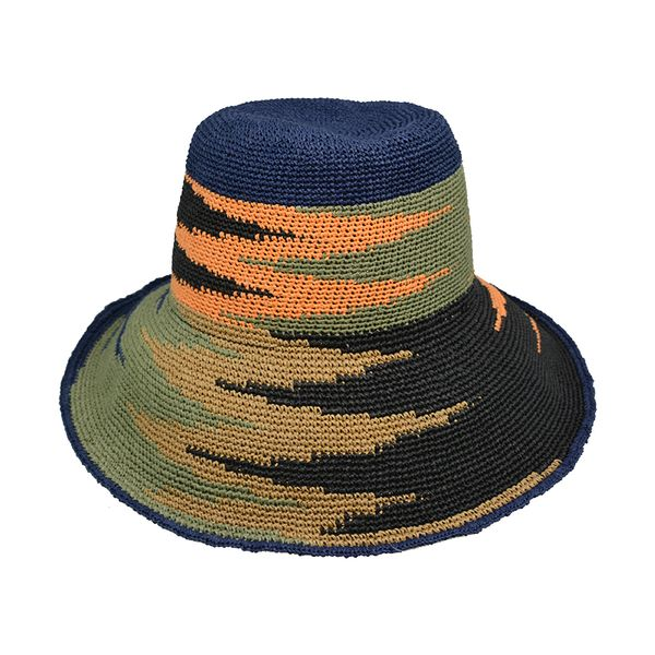 folding sombrero paper straw crochet lady hat