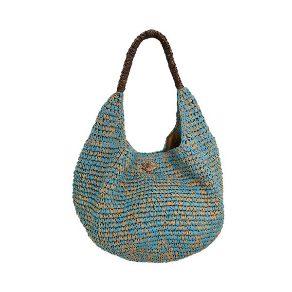 multiclolor paper crochet shoulder bag