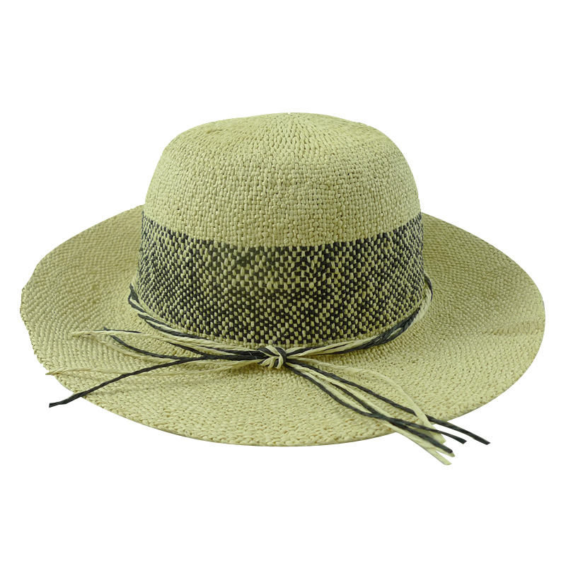 Ladies Custom Straw Boater Hat