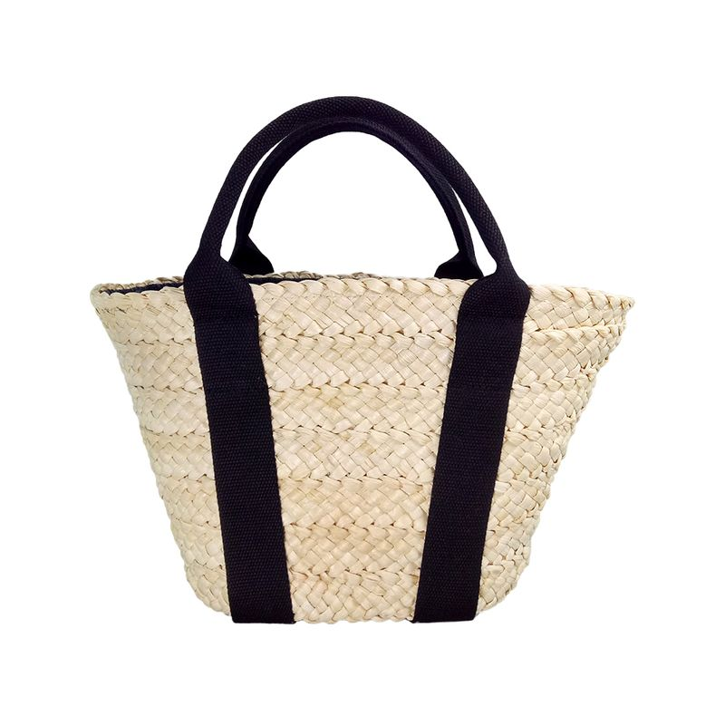 fashion cornhusk straw tote handbag