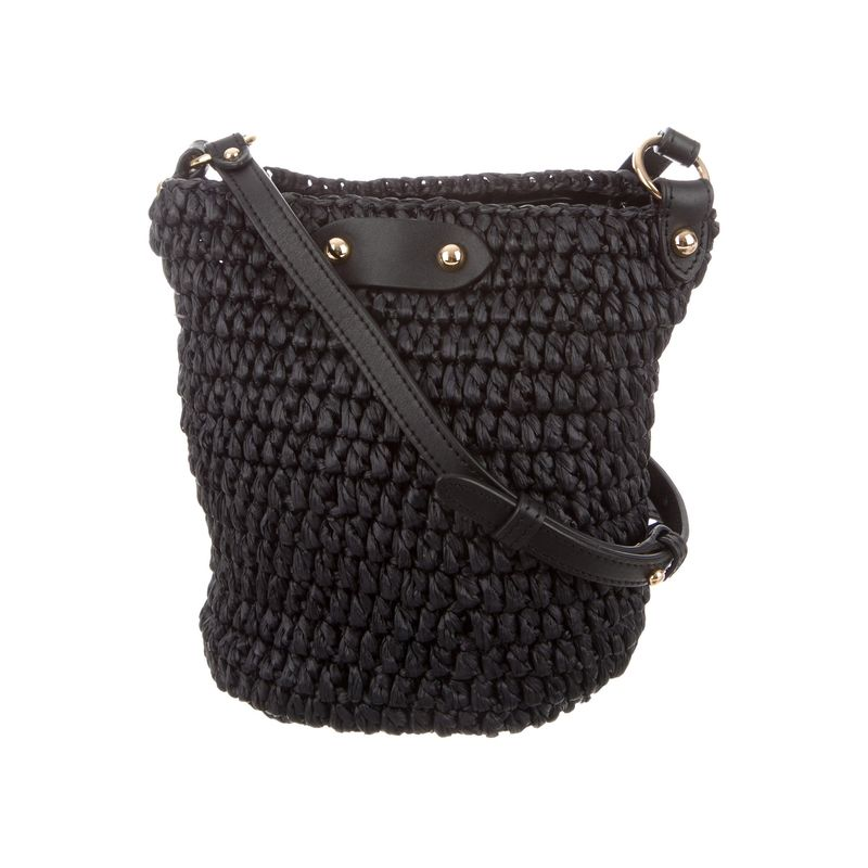 real raffia straw shoulder bag