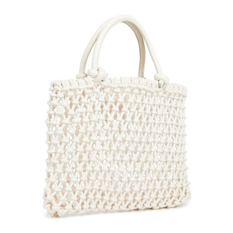 fabric crocheted Sandy tote bag