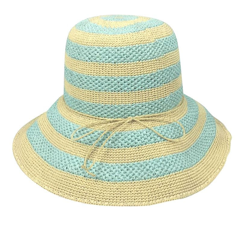 Nord striped straw beach sun hat