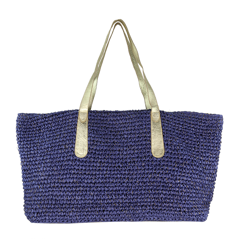 large straw bag