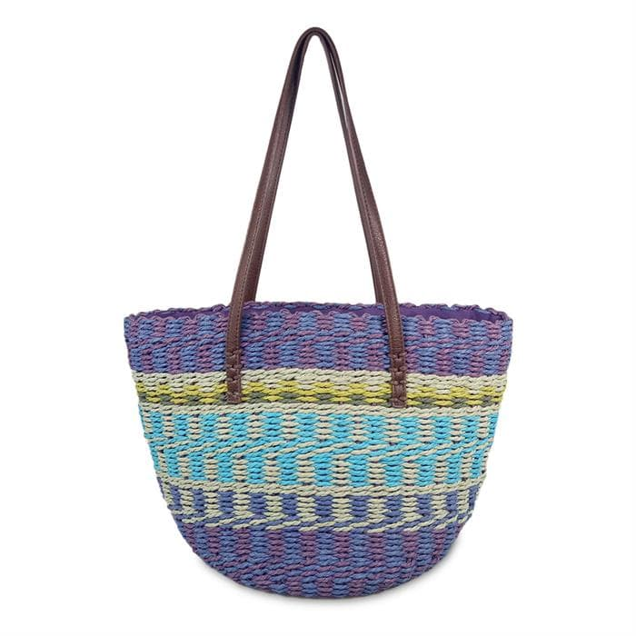 colorful straw bag for summer