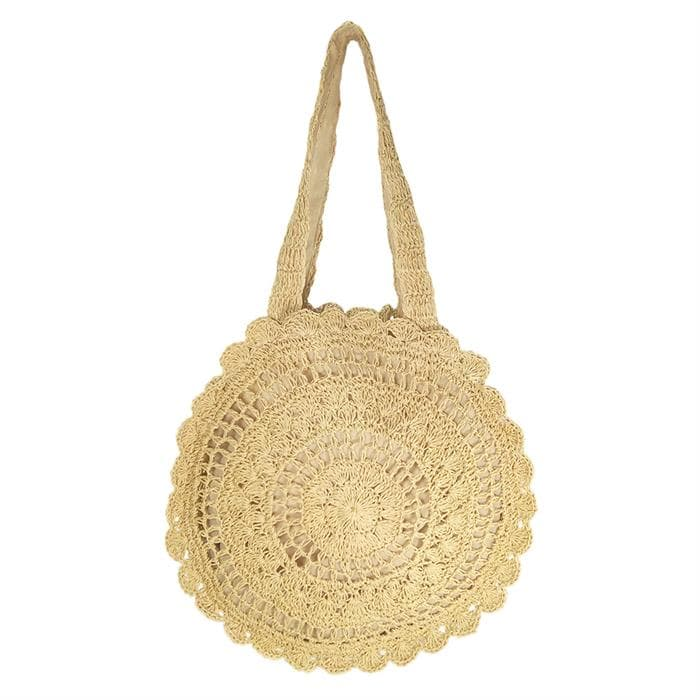 soft straw bag