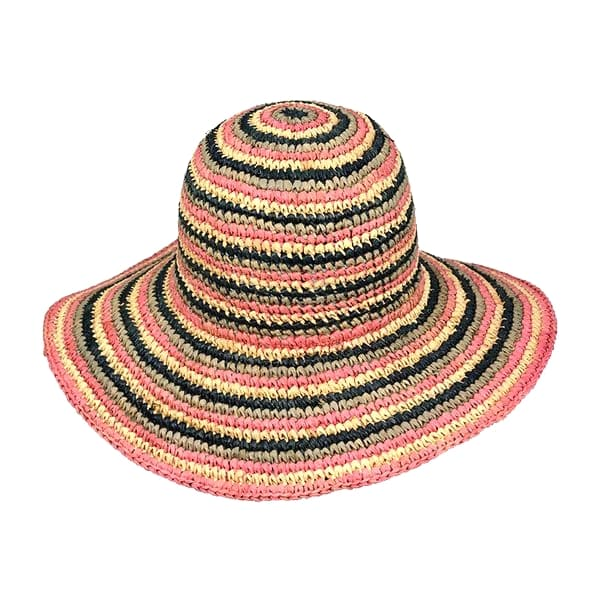 raffia crochet straw lady hat with large brim