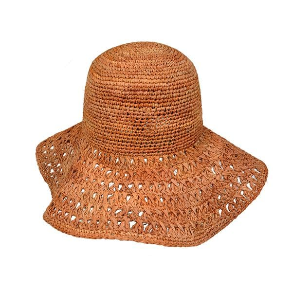 lady straw raffia summer hat with wide brim