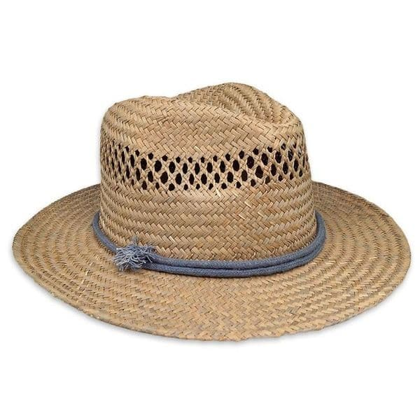 Panama Straw Summer Fedora Beach Trilby Sun Hats Short Brim For Men