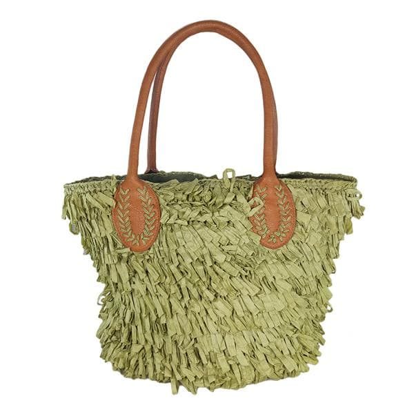 Straw tote bag for women