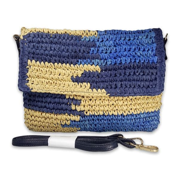 Straw envelope clutch bag messenger bag