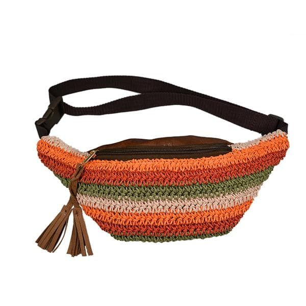 paper straw fanny pack,straw waist bag