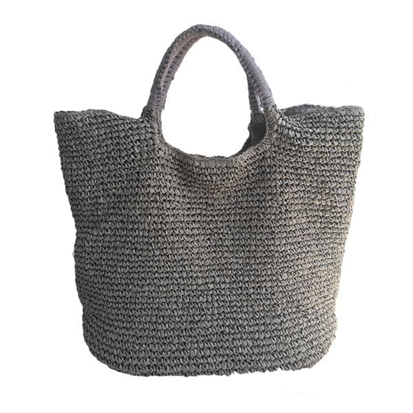 over-sized woven straw tote