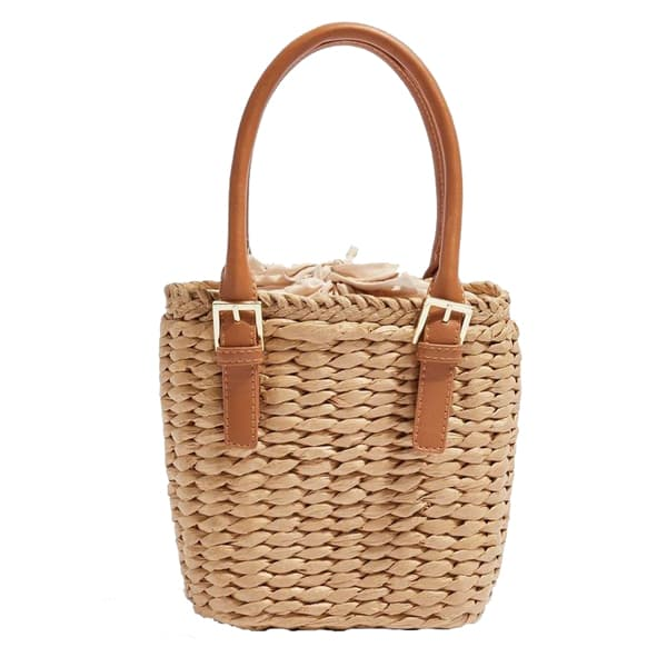 Straw Mini Grab Bag Tote