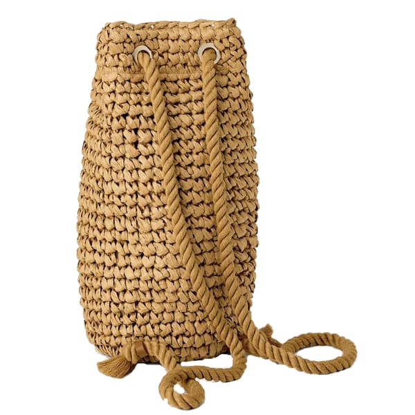 woven paper straw backpack