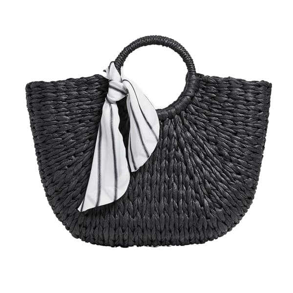 black round handle bag
