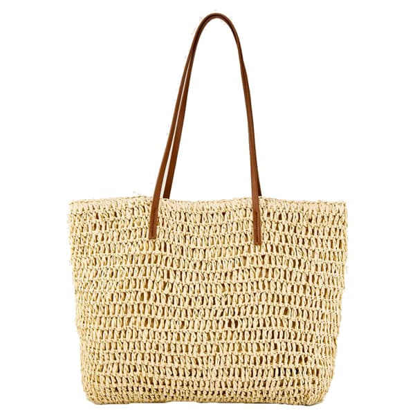 crocheted paper raffia shopper
