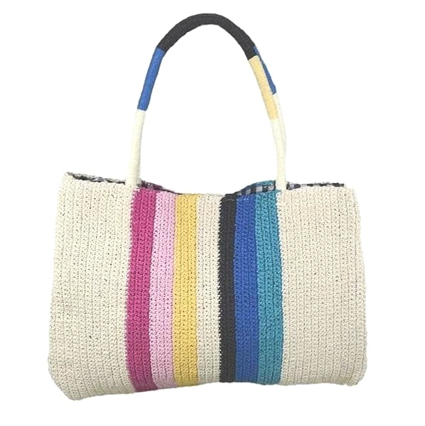 tight weave straw tote bag