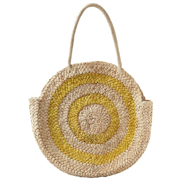 sunshine large round straw bag