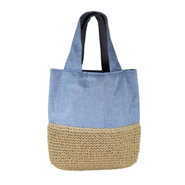 small straw tote bag