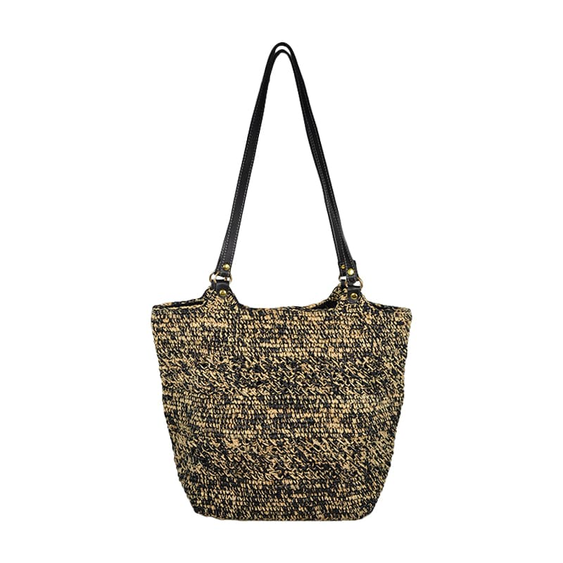 straw raffia shoulder bag