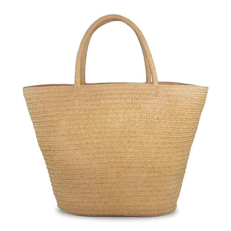 simple straw tote