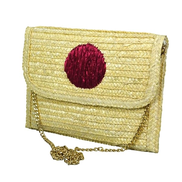 straw crossboday bag for women