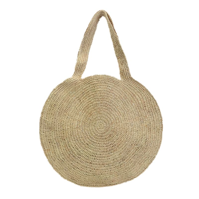Ready to ship raffia straw tote bag