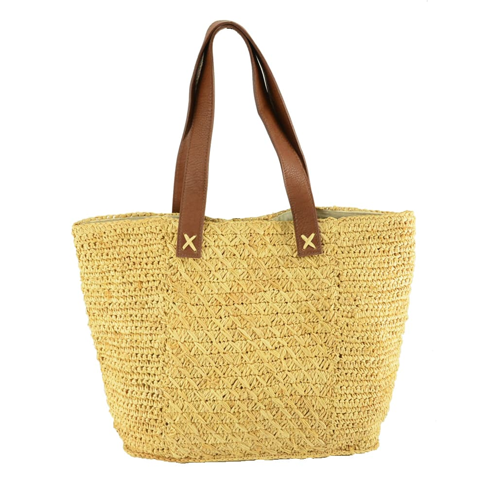 raffia tote bag for SS20