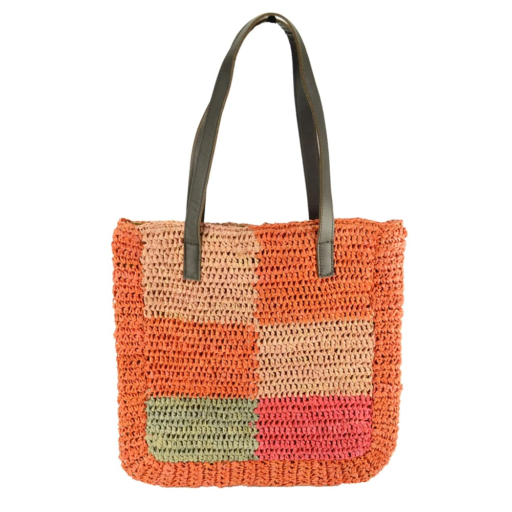 colorful straw raffia bag for summer
