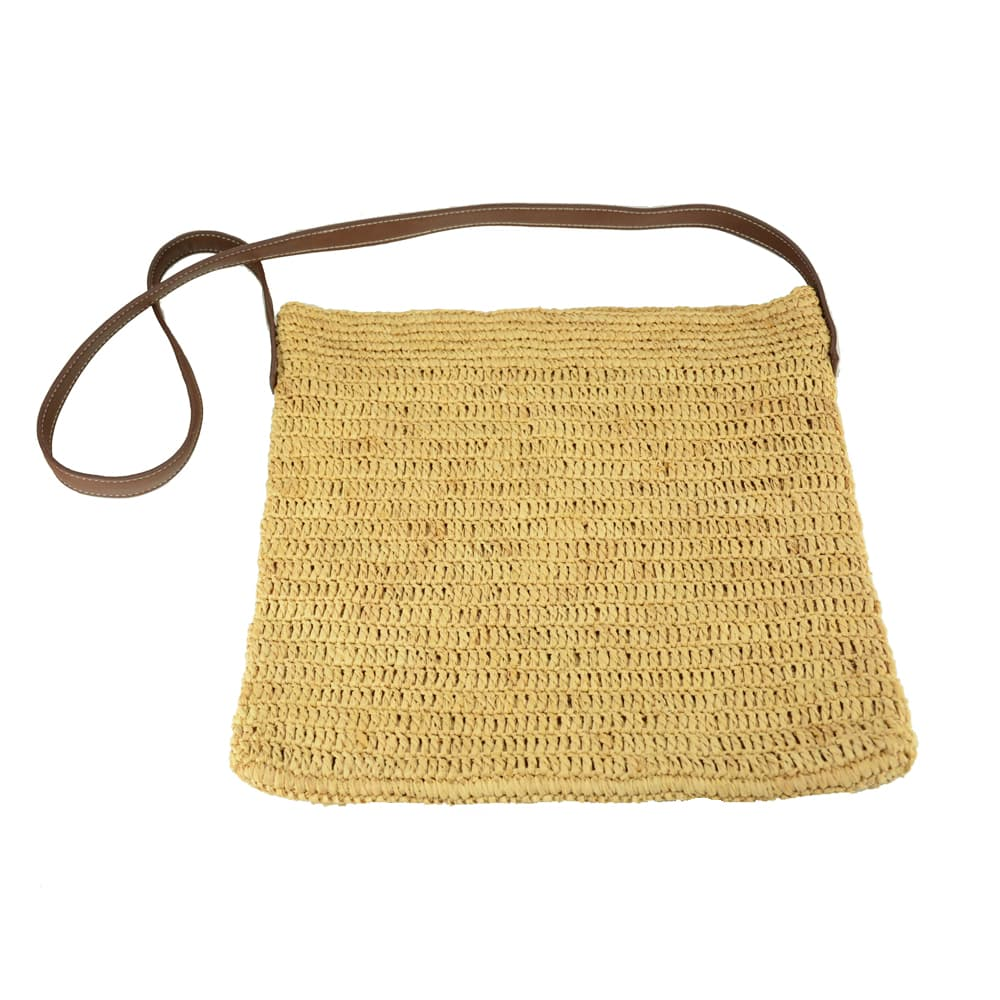 China raffia straw crossbody
