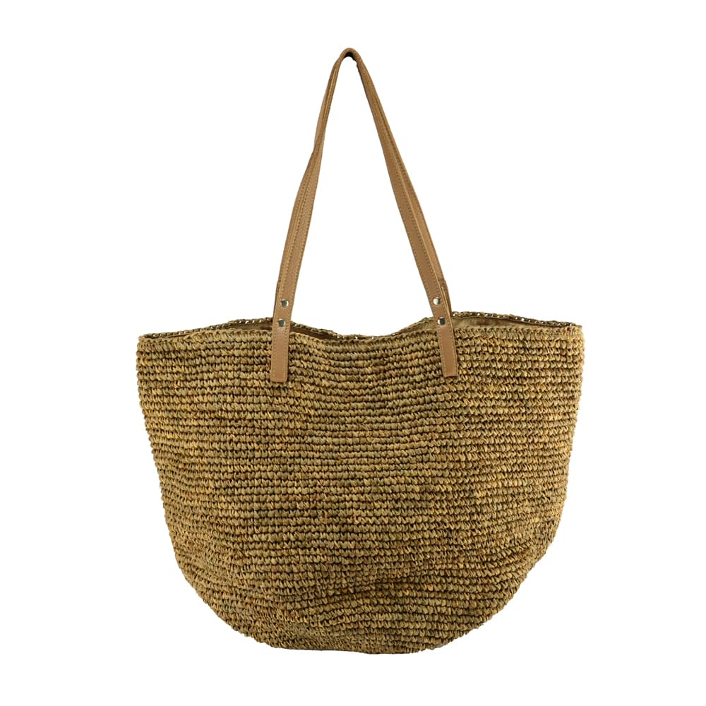 large raffia shoulder bag