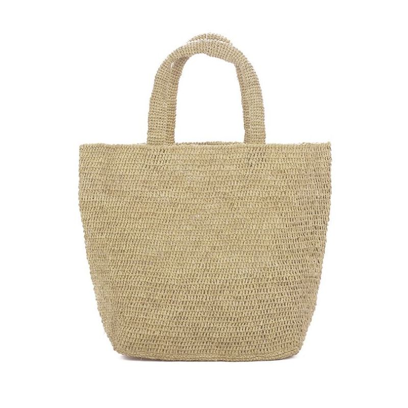 tight weave raffia tote for women