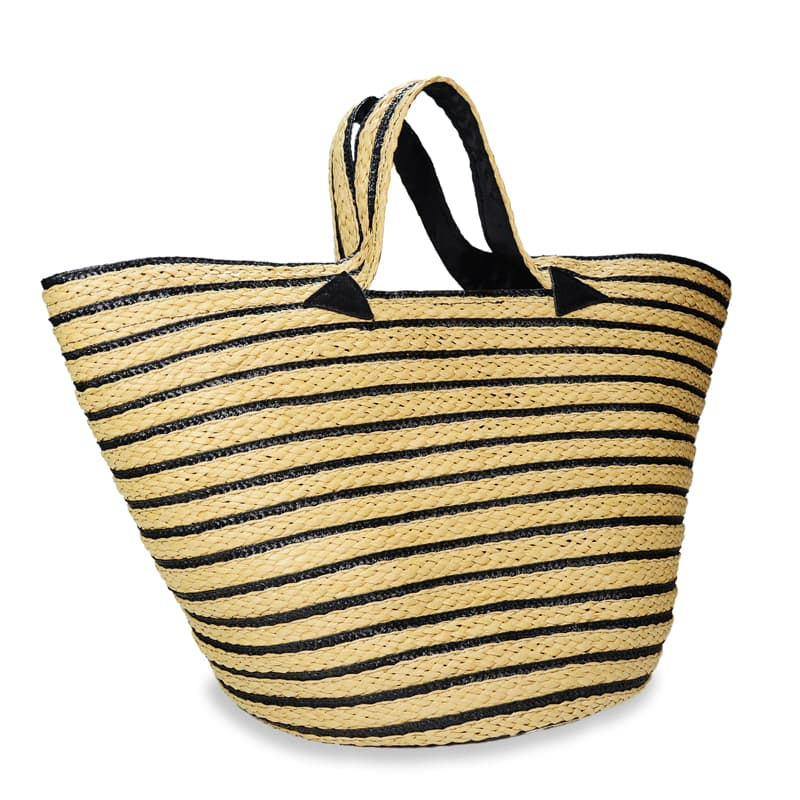 Macy striped straw tote