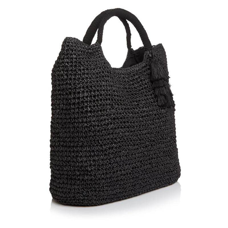 black large straw tote made in China