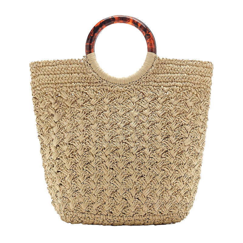 woven ring handle bag