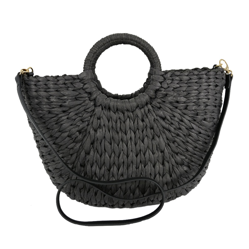 black straw tote bag shop from China