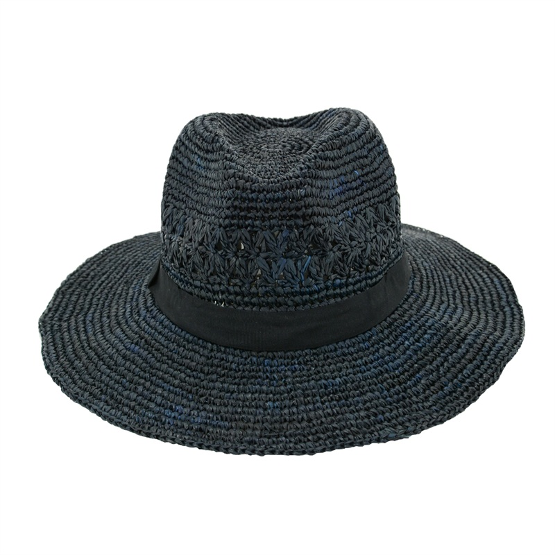 black raffia straw hats