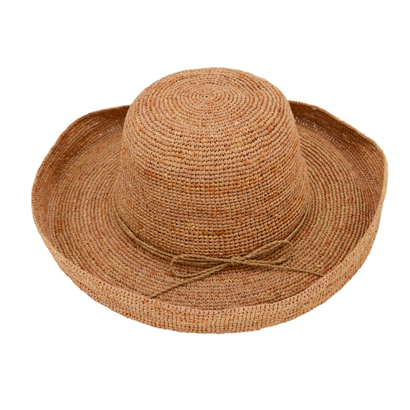 wide brim raffia beach hats in brown