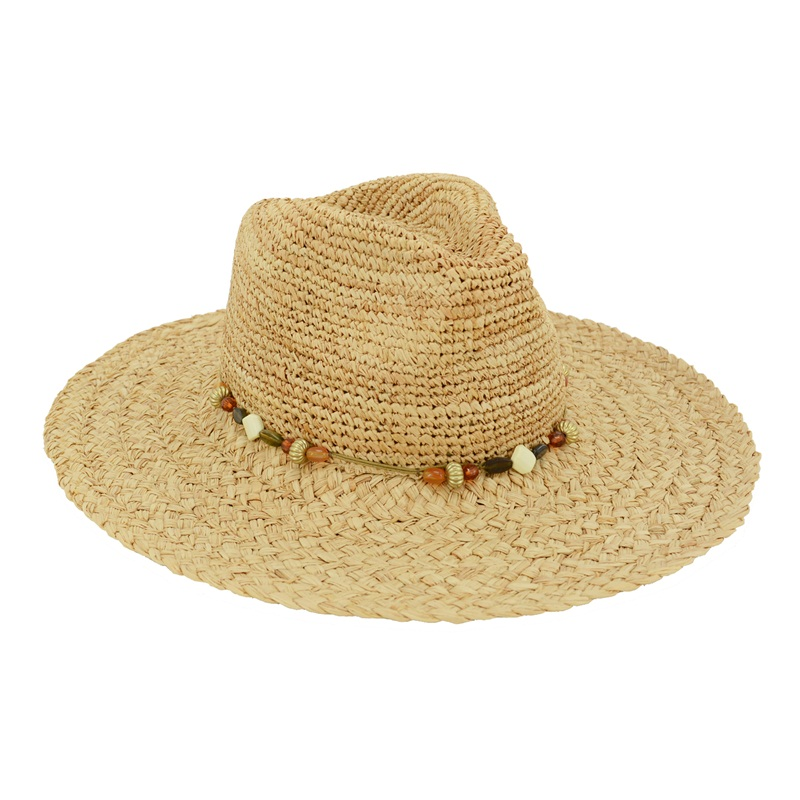 Rough Braid Raffia Panama Hat
