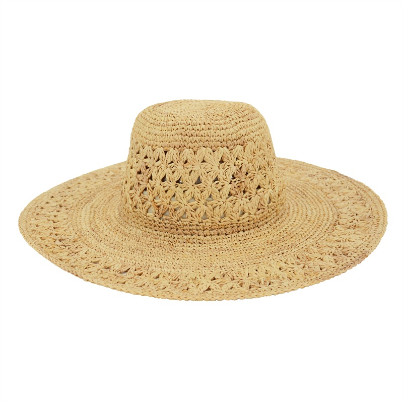 european style raffia straw women summer hat