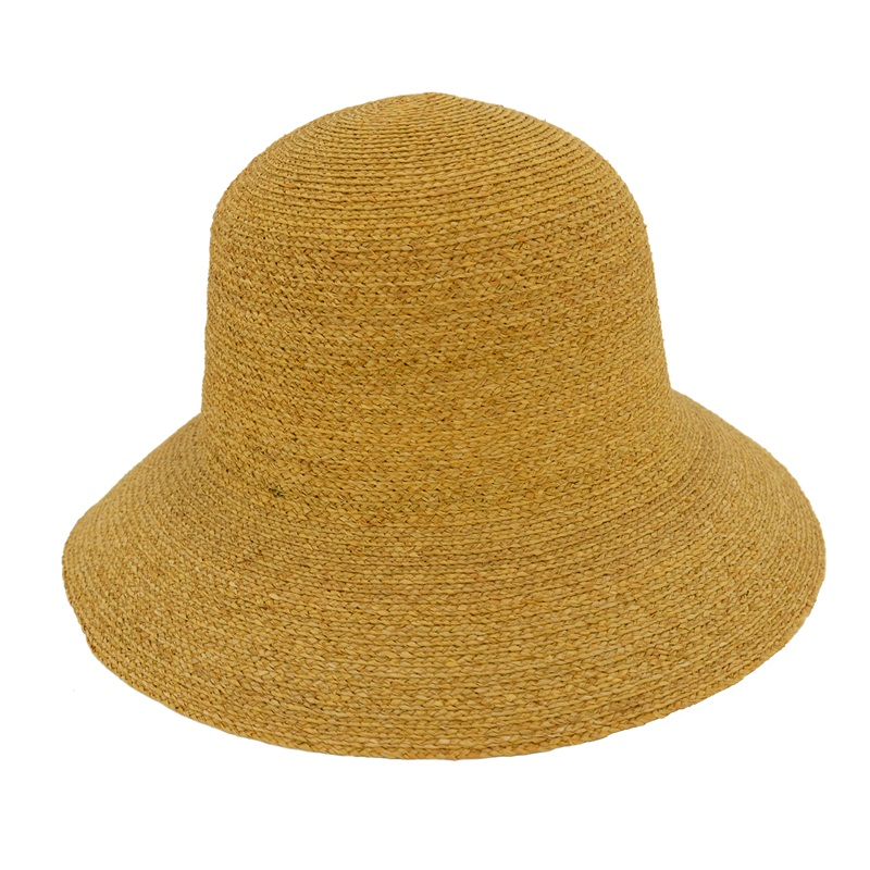 Fashion Raffia Braid Straw Bucket Hats