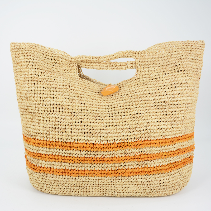 Sunday Morning raffia tote bags