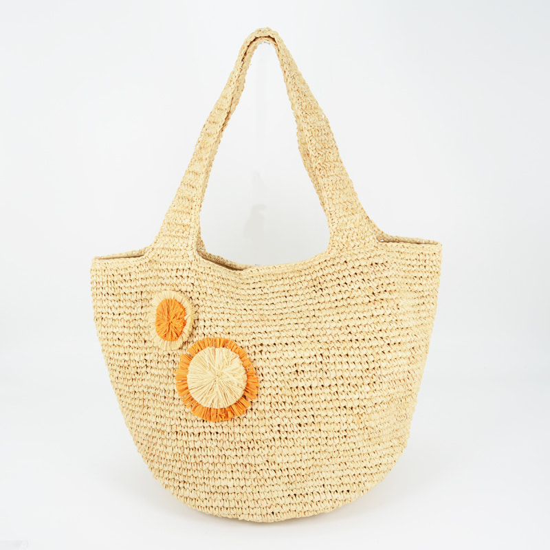 large raffia tote bag made in China