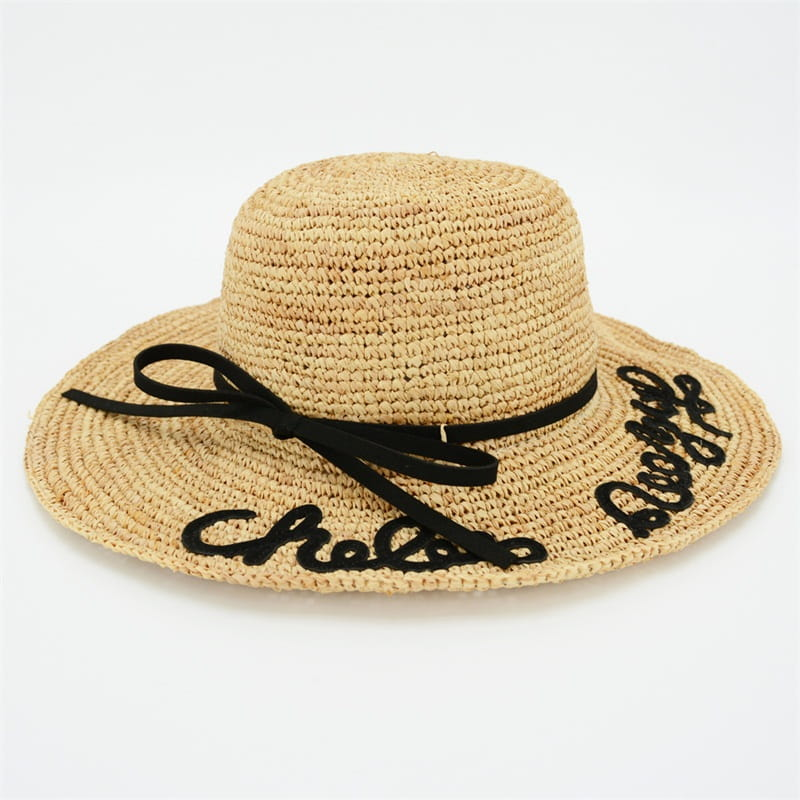 organic raffia sun hat for the summer