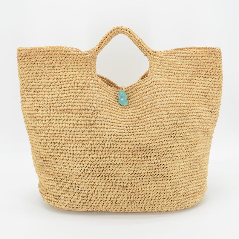 Large raffia tote bag,hand made crocheted